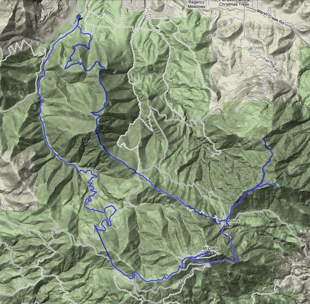 Mount Diablo Four Peaks Hike1